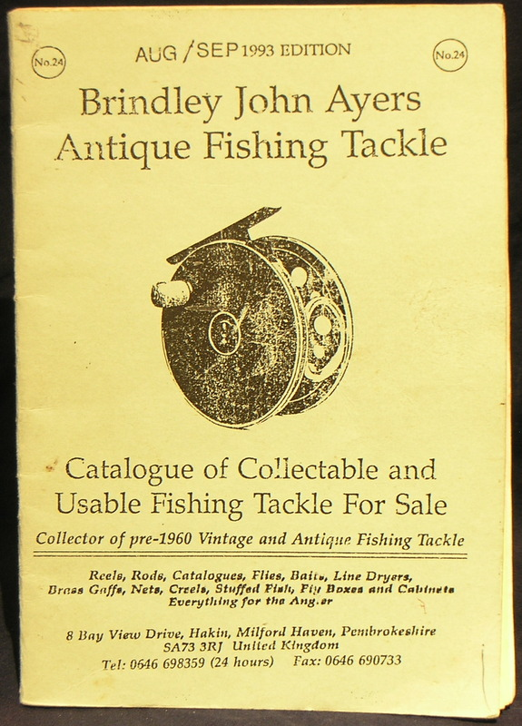 Image for Brindley John Ayers Antique Fishing Tackle Catalogue Aug/Sep 1993 Ed.