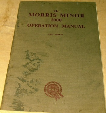 Image for The Morris Minor 1000 Operation Manual
